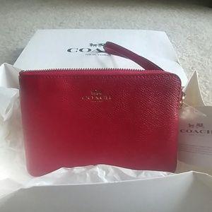 Coach side zipper coin purse/wristlet